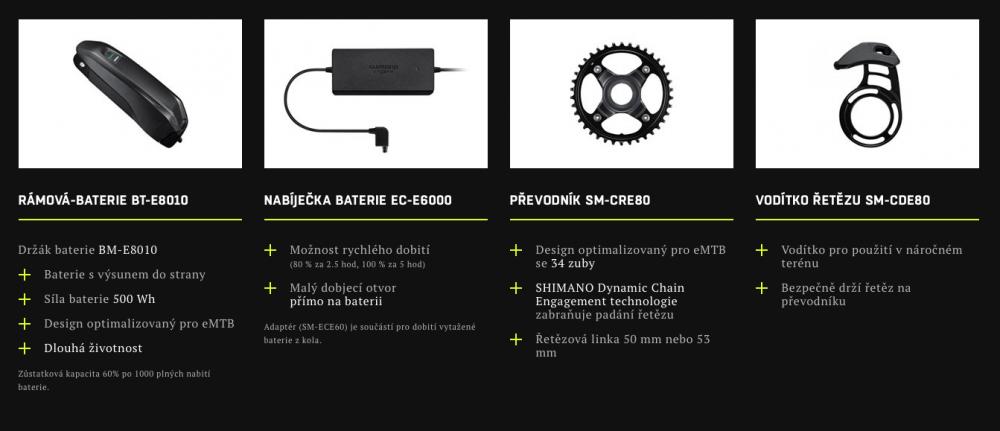 Komponenty Shimano STePS E8000